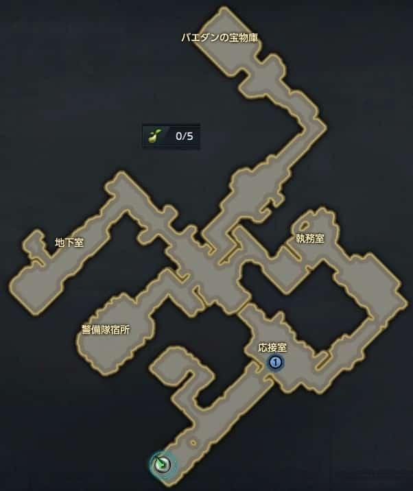 シュシャイアー、バエダンの隠れ家MAP