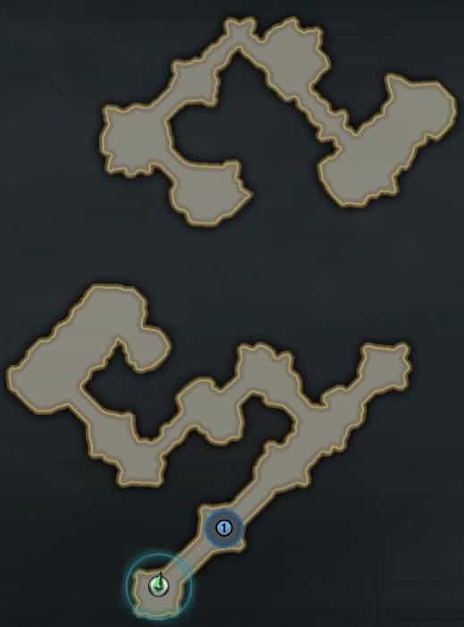 シュシャイアー、鏡の迷宮MAP