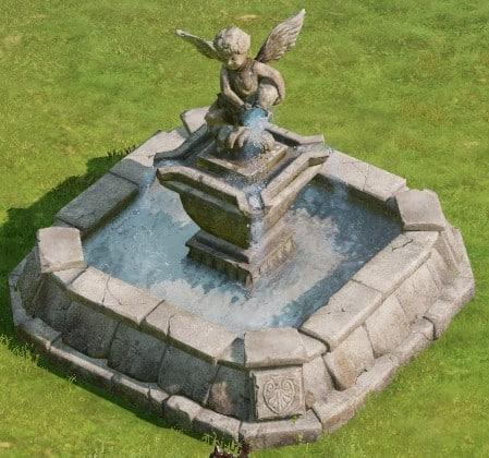 設置物:アルテミス式小型噴水