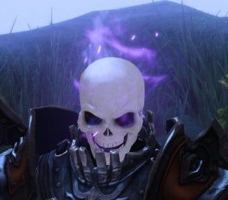 奇妙なハロウィンの頭蓋骨